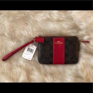 Super cute authentic leather coach wallet